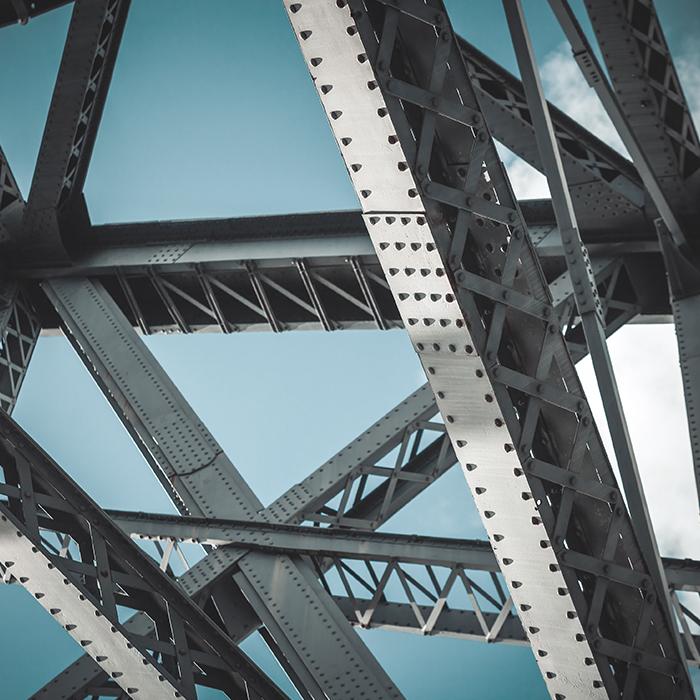 Photo of steel girders - Engineering & inspection insurance