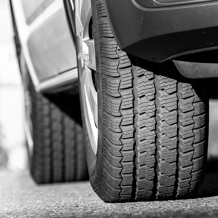 Photo of car tyres - Motor fleet insurance