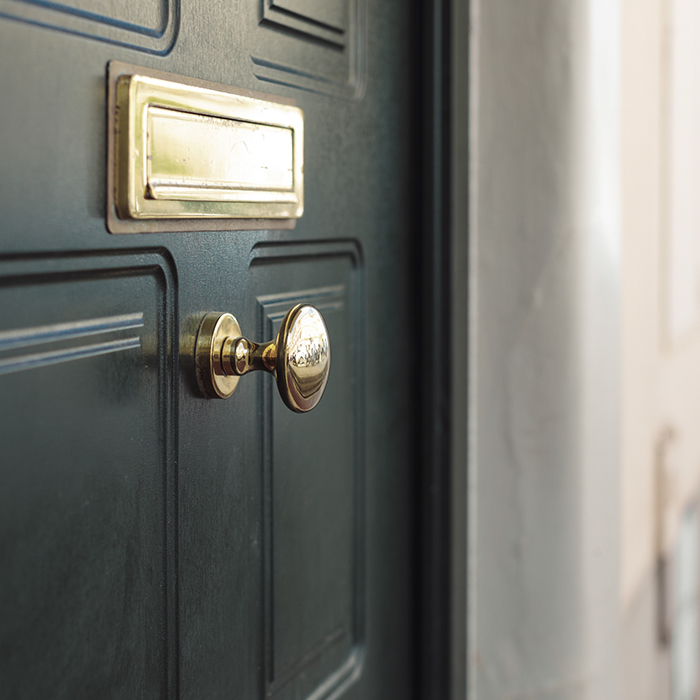 Photo of a front door - property owners insurance