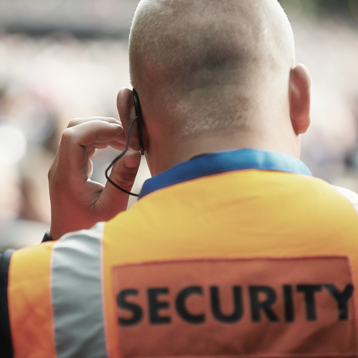 Photo of a secruity guard - Security insurance