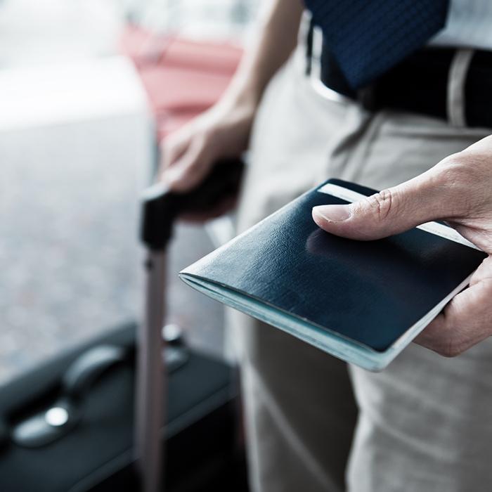 Photo of a passport - travel insurance