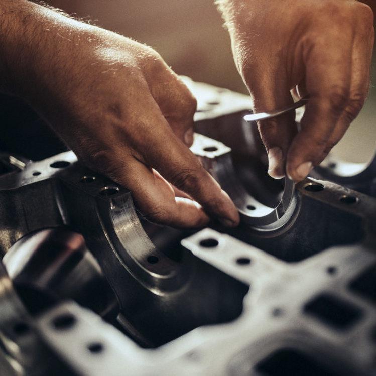 Photo of car repairs - motor trade insurance