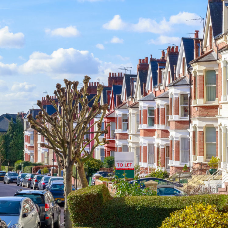 Photo of a row of buy-to-let properties - property owners insurance